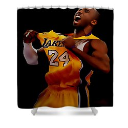Kobe Bryant Sweet Victory Shower Curtain by Brian Reaves