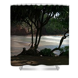 Koki Beach Hana Maui Hawaii Shower Curtain by Sharon Mau