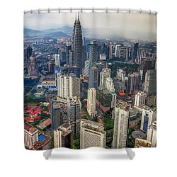 Kuala Lumpur City Shower Curtain by Adrian Evans