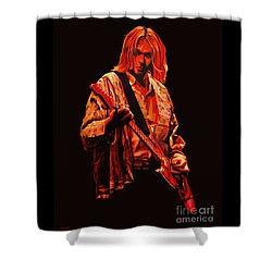 Kurt Cobain Painting Shower Curtain by Paul Meijering
