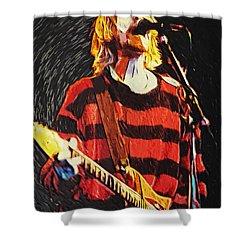 Kurt Cobain Shower Curtain by Taylan Soyturk