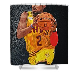 Kyrie Irving Shower Curtain by Taylan Soyturk