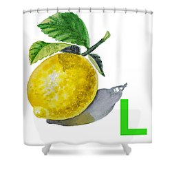 L Art Alphabet For Kids Room Shower Curtain by Irina Sztukowski