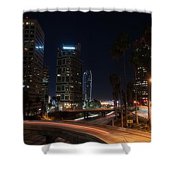La Down Town 2 Shower Curtain by Gandz Photography
