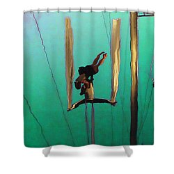 La Loupiote Shower Curtain by Anne Mott