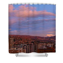 La Paz Twilight Shower Curtain by James Brunker