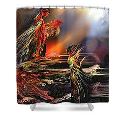 La Rencontre Shower Curtain by Francoise Dugourd-Caput