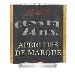 La Soupe Du Jour Shower Curtain by Debbie DeWitt