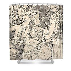 La Toilette Shower Curtain by Konstantin Andreevic Somov