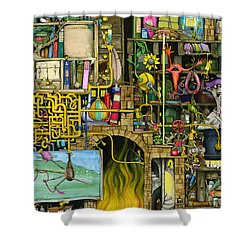Laboratory Shower Curtain by Colin Thompson