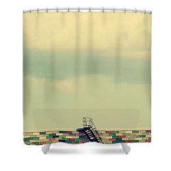 Ladder To Nowhere  Shower Curtain by Trish Mistric