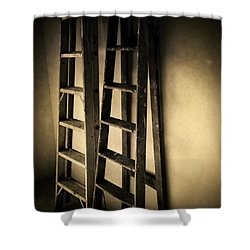 Ladders Shower Curtain by Les Cunliffe