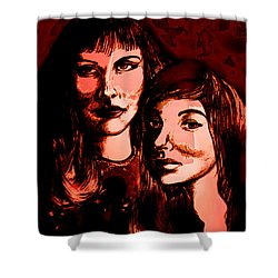 Ladies Night Shower Curtain by Natalie Holland