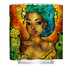 Lady Creole Shower Curtain by Mandie Manzano