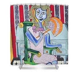 Lady Laura Shower Curtain by Daniel Burtea