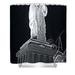 Lady Liberty Shower Curtain by Kay Novy