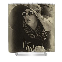 Lady Of Fashion Shower Curtain by Rene Triay Photography