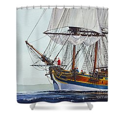 Lady Washington And Captain Gray Shower Curtain by James Williamson