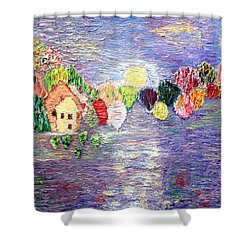 Lake House Shower Curtain by Vadim Levin