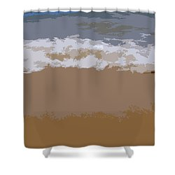 Lake Michigan Shoreline Shower Curtain by Michelle Calkins