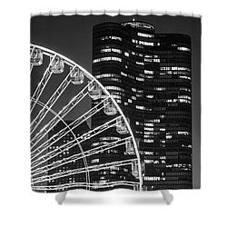 Lake Point Tower Shower Curtain by Sebastian Musial