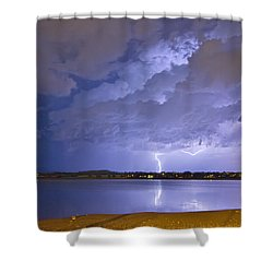 Lake View Lightning Thunderstorm Shower Curtain by James BO  Insogna