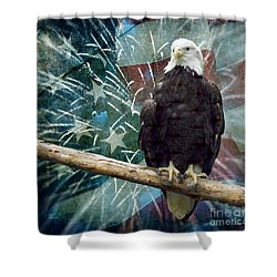 Land Of The Free Shower Curtain by Terry Weaver