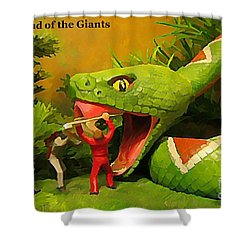 Land Of The Giants Shower Curtain by John Malone