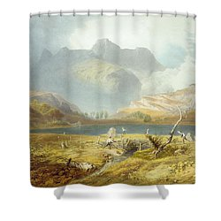 Langdale Pikes, From The English Lake Shower Curtain by James Baker Pyne