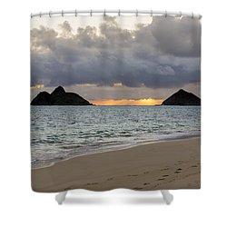 Lanikai Beach Sunrise 4 - Kailua Oahu Hawaii Shower Curtain by Brian Harig