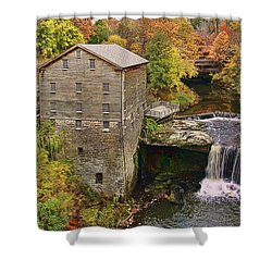 Lanterman's Mill And Bridge Shower Curtain by Marcia Colelli