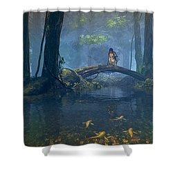 Lantern Bearer Shower Curtain by Cynthia Decker
