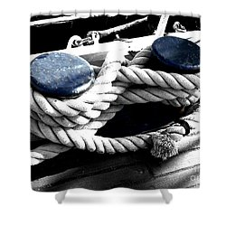 Large Dock Cleat Shower Curtain by Cheryl Young