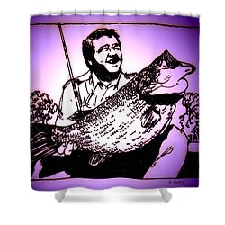 Largemouth Shower Curtain by George Pedro