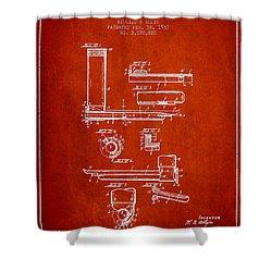 Laryngoscope Patent From 1937  - Red Shower Curtain by Aged Pixel