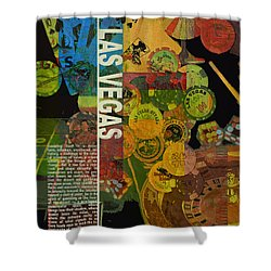 Las Vegas Compilation Shower Curtain by Corporate Art Task Force