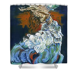 Dive Into Your Soul Shower Curtain by Karina Llergo