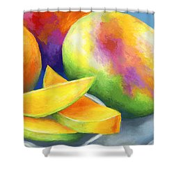 Last Mango In Paris Shower Curtain by Stephen Anderson