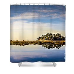 Late Day Hammock Shower Curtain by Marvin Spates