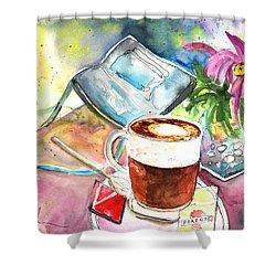 Latte Macchiato In Italy 01 Shower Curtain by Miki De Goodaboom