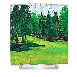 Laurelhurst Park Shower Curtain by Joseph Demaree