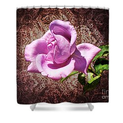 Lavender Rose Shower Curtain by Mariola Bitner