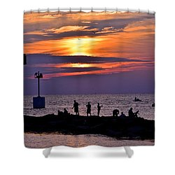 Lavender Sunset Shower Curtain by Frozen in Time Fine Art Photography