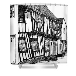 Lavenham Timber Shower Curtain by Shirley Miller