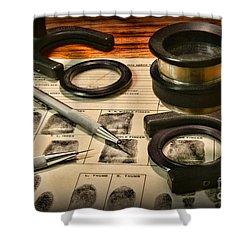 Law Enforcement - Fingerprint Analysis Shower Curtain by Paul Ward
