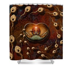 Laws Of Attraction 2 Shower Curtain by WB Johnston