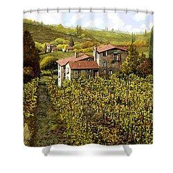 Le Vigne Toscane Shower Curtain by Guido Borelli