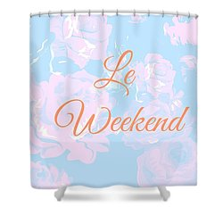 Le Weekend Shower Curtain by Chastity Hoff