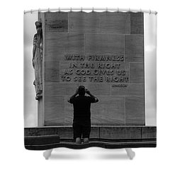 Learning From Lincoln Shower Curtain by James Brunker