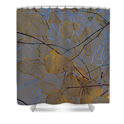 Leaves Shower Curtain by Carol Lynch